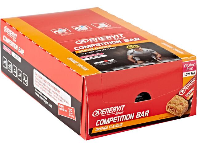 Enervit Sport Competition Bar Sacoche 25x30g, Orange